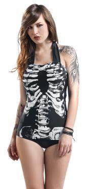 La marca Banned nos trae un bañador bestial. El bañador Skeleton tiene un dibujo con costillas y otros huesos. Un diseño muy fuerte!