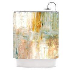 "CarolLynn Tice ""Coffee"" Brown Paint Shower Curtain - KESS InHouse"