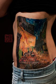 """41 Incredible Tattoos Inspired By Works Of Art """"The Night Cafe,"""" by Vincent van Gogh"""