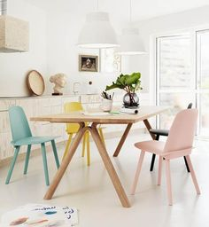 Muuto Scandinavian Design Dining Area Based Manufacturer Muuto Has Shown Us How To Decorate A Simple Dining Scandinavian Dining Room Design With Beautiful Furniture Dining Room Sets, Dining Room Design, Dining Area, Dining Chairs, Kitchen Dining, Kitchen Chairs, Room Chairs, Wooden Chairs, Ikea Dining