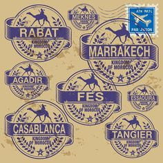 Illustration about Grunge rubber stamp set with names of Morocco cities. Illustration of morocco, marrakech, casablanca - 36217656 Marrakesh, Commonwealth, New Zealand Cities, Embrace The Chaos, India Images, City Vector, Canada Images, Vintage India, Morocco Travel