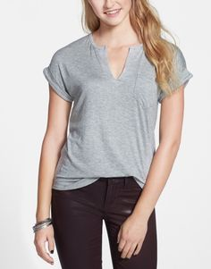 Wardrobe staple: Basic tee with subtle detail.