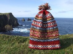 Fair Isle: Traditional Hand Knit Fair Isle Fisherman's Keps (6 Hats for Auction) Museum Fund Raiser