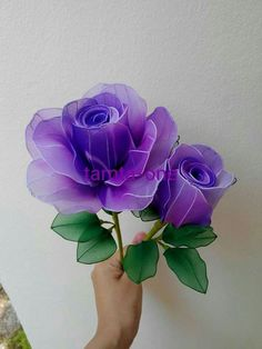 Awesome diy flowers hacks are readily available on our internet site. Take a look and you wont be sorry you did. Nylon Flowers, Cloth Flowers, Felt Flowers, Diy Flowers, Fabric Flowers, Paper Flowers, Hyacinth Flowers, Diy Stockings, Wine Bottle Crafts