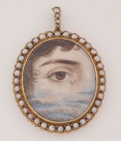Mourning lover's eye pendant, 19th century.