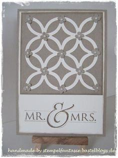 Stampin`Up!, Hochzeit, Elegantes Gitter, Mr.&Mrs.