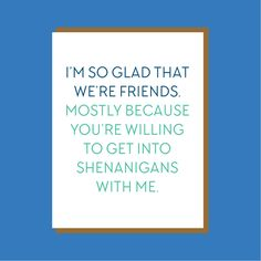 Shenanigans - So Glad We're Friends Collection