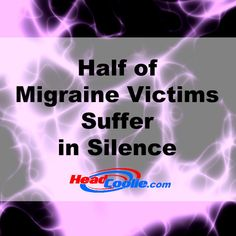 Half of Migraine Victims Suffer in Silence. Because even the sound of our own voice is too loud. Chronic Migraines, Chronic Illness, Chronic Pain, Because I Love You, Things To Think About, Migraine Relief, Migraine Remedy, Cluster Headaches, Suffering In Silence