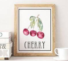 Kitchen decor, kitchen art, kitchen wall art, kitchen print, fruit wall art…