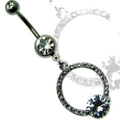 Elegantly Crafted Ring Design Dangle Belly Ring Surgical Steel