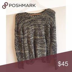 Topshop Distressed Knit Sweater Super cute ripped detail on both sides of the front • Fuzzy material • No flaws • US 2 Topshop Sweaters
