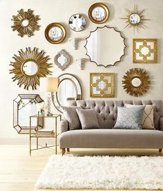 find this pin and more on espejos de lujo sole mirror wall mirrors home decor - Mirror Wall Decor