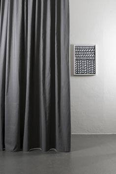 Azura Grey Cotton & Linen Ready Made Curtains / Extra Wide - Col 007 Extra Wide Curtains, Linen Curtains, Drapery, Shops, Different Tones, Cotton Linen, Interior Design, Weave, Grey