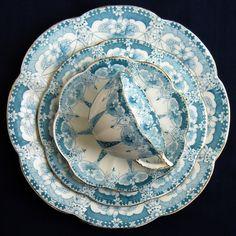 "RARE Antique Victorian Foley Wileman Trio 1 Tea Coffee Set Cup Saucer Plate | eBay c 1890  Pattern #4180 ""The Star,"" Fairy Shape"