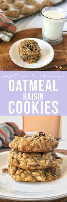 These oatmeal raisin cookies are moist, full of spice, soft, chewy and oh, so thick! Not to mention how simple and easy they are to make!