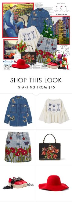 """Paper planes....."" by purplecherryblossom ❤ liked on Polyvore featuring Valentino, MANGO, Gucci, Dolce&Gabbana, Miu Miu, Scala, New Directions and country"