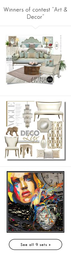 """""""Winners of contest """"Art & Decor"""""""" by monocolor ❤ liked on Polyvore featuring interior, interiors, interior design, home, home decor, interior decorating, Ballard Designs, Belle Maison, Pier 1 Imports and Bliss Studio"""