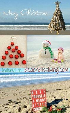 Have yourself a very Merry beach-y little Christmas: http://beachblissliving.com/beach-christmas-card-photo-ideas/