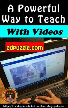 If you use video in your classroom to teach, then you'll want to read this blog post on using edpuzzle.com! It is a website that allows you to add questions, audio and notes to a video! Then post it to Google Classroom. Students watch the video and it pauses automatically at the point you inserted a question. So many possibilities come to mind on how to use this website. Read about it how to get started with it on my blog!
