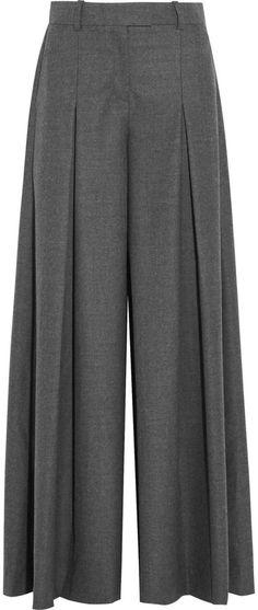 J.Crew Mia Wool-Flannel Wide-Leg Pants