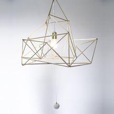 Suspension Golden Drop, design Nicolas Brevers - GOBO Harmony Art, Platonic Solid, Decoration, Chandelier, Ceiling Lights, Drop, Shapes, Lighting, Design
