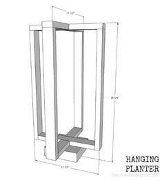 Hanging Planter DIY hanging planter with free plans Diy Wooden Projects, Wooden Diy, Diy Projects To Try, Diy Hanging Planter, Diy Planters, Home Depot Store, Cedar Boards, Side Yards, Diy Workshop