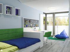 Pokój dziecka styl Nowoczesny - zdjęcie od ARCHISSIMA - Pokój dziecka - Styl Nowoczesny - ARCHISSIMA Compact House, Boy Room, Wall Colors, Beautiful Babies, Corner Desk, House Plans, Bed, Furniture, Playrooms