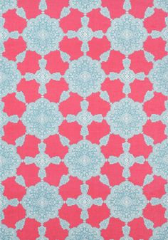 MEDALLION PAISLEY, Pink and Turquoise, F988726, Collection Trade Routes from Thibaut