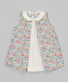 This Pink Floral A-Line Dress - Infant & Toddler by La Fleur & Le Papillon is perfect! #zulilyfinds