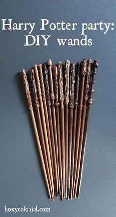 También puedes hacer tus propias varitas usando palillos chinos.