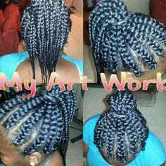 Box braids/ Goddess Braids Braids by TeTe. {MyArtWork} Pinterest ...