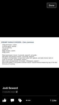 Garlic Chicken Bellini Recipe, Creamy Garlic Chicken, Recipes, Thermomix, Recipies, Ripped Recipes, Cooking Recipes, Medical Prescription