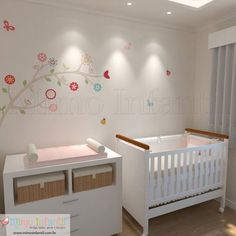 Adesivo de Parede Infantil e Bebê Galhos Maitê (fácil instalação, lavável)