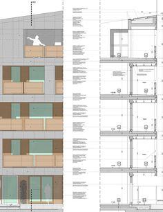 """Habitação Social """"CasaNova"""",Corte Detalhado"""