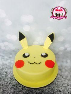 Pikachu cake Plus Bolo Pikachu, Pikachu Cake, Pokemon Birthday Cake, Pokemon Party, Easy Pokemon, Cakes Plus, Cookie Company, Cute Cakes, Celebration Cakes