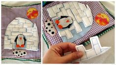 quiet book page ideas | also love all the little pockets and how there's a place for ...