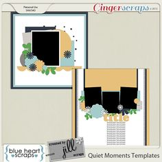 New Collab Release; Quiet Moments with @Blue Heart Scraps! Individual Packs are on Sale 25% off through Friday 18th and the Bundle is 60% off! Quiet Moments Templates; http://store.gingerscraps.net/Quiet-Moments-Collab-Templates.html. 11/10/2013