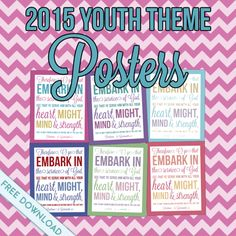 """2015 Youth Theme """"Embark in the Service of God"""" Posters Free Download"""