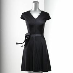 Simply Vera Vera Wang Solid Fit and Flare Dress