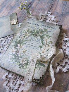 Vintage flowers diary journal notebook tagebuch by BethStyleBook