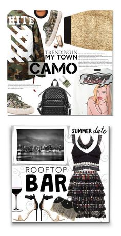 """camo"" by makaylaperras on Polyvore featuring Off-White, Philipp Plein, Superga, Arche, Marc by Marc Jacobs, Nails Inc., Dermablend, Nude by Nature, Marco de Vincenzo and Trademark Fine Art"