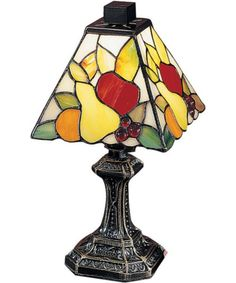 Dale Tiffany Fruit Mini #TableLamp #Antique Brass TA100122