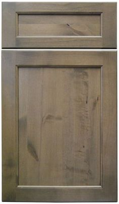 """gray stained kitchen cabinets   ... cabinet door style in Knotty Alder with """"Cashew"""" gray stained finish"""
