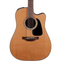 Takamine Pro Series 1 Dreadnought Cutaway Acoustic Electric Guitar Nat