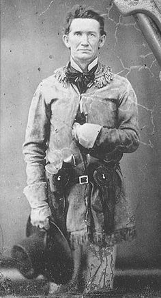 """John Salmon """"Rip"""" Ford 1815 – 1897 Texas Ranger, Confederate colonel Rip Ford described the country between Laredo and Corpus Christi as inhabited by """"…countless droves of mustangs and…wild cattle…abandoned by Mexicans when they were ordered to..."""