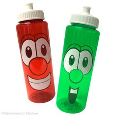 The VeggieTales sport bottle makes staying hydrated simple! These BPA Free bottles are ideal for sch. Veggie Tales Birthday, Veggie Tales Party, 2nd Birthday, Birthday Ideas, Birthday Parties, Christian Cartoons, Bpa Free Bottles, Veggietales, Cartoon Tv Shows