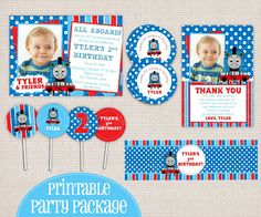 Little Blue Train Friend Themed Printable Birthday Party Package. $25.00, via Etsy.
