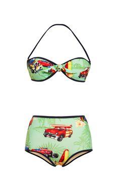 M'O Exclusive: Razza Hawaiian Bikini by Stella Jean - Moda Operandi
