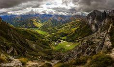 Fuente Dé - Panoramica de 4 fotos #Cantabria #Spain