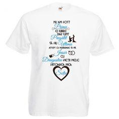 Tricou Dragostea vietii mele (pentru el) Nasa, Mens Tops, T Shirt, Supreme T Shirt, Tee Shirt, Tee